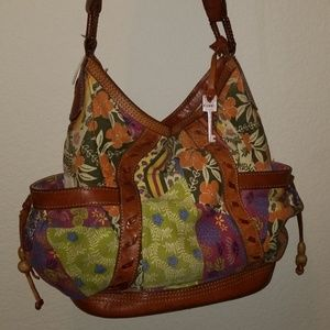 Fossil Fabric/Canvas Floral Purse